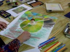 Corinne, pastel d'après Degas