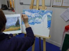Valerie, acrylique d'après Van Gogh